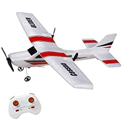 ✈ Easy to fly ✈ - It is 2.4 Ghz 2 channels RTF RC Plane for beginner. It made of EPP foam materials , durable, strong and not easy broken. ✈ ESC building with Gyro ✈ - Thanks to 6-Axis Gyro building in ESC, what makes this RC plane stability fly and ...