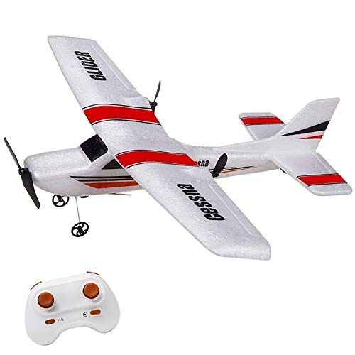 RC Plane, 2.4Ghz 2 Channel Remote Control Airplane Ready to Fly,RC Aircraft Built in 6-Axis Gyro,Easy Fly RC Plane for Kids Boys Beginner