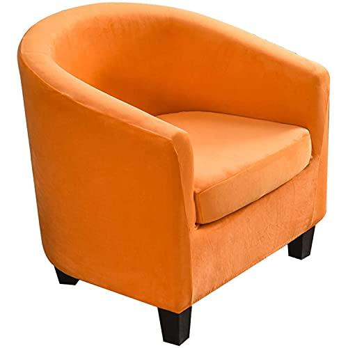 GYHH Funda para Silla De Bañera,Cabriolet Butacón Chesterfield Protección Butaca Terciopelo Fundas De Sillón para Salón Funda De Sofá Protector Muebles (Orange)