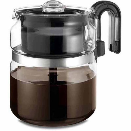 One All 8-Cup Stovetop Glass Percolator Stain Resistant
