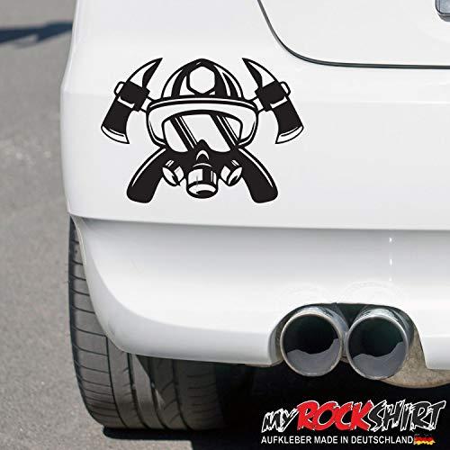 myrockshirt Feuerwehr Helm Atemschutz Aufkleber 20 cm Autoaufkleber Sticker