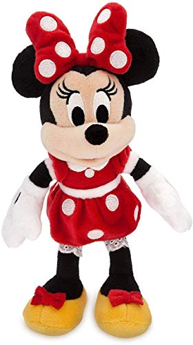Disney Minnie Mouse Plush - Red Mini Bean Bag - 9 1/4''