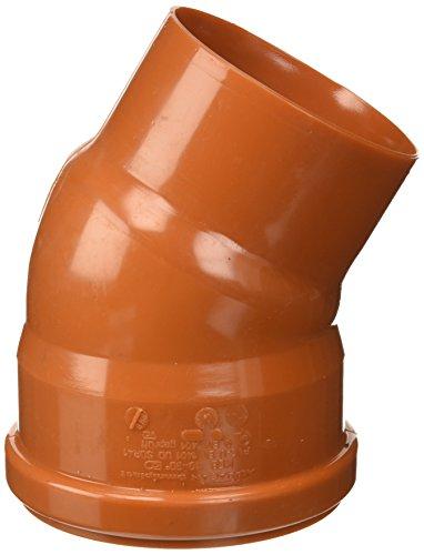Bampi PV111030, Unión curva Reducción de PVC 110/100, Naranja, 30 grados