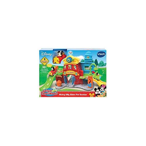 VTECH- TutTut Bólidos Disney Estación de Bomberos de Mickey playset interactivo con música y voces reales de los personajes, Color (3480-511622) , color/modelo surtido