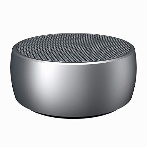 Drahtloser Bluetooth-Lautsprecher Haushalts-Mini-Subwoofer mit hohem Volumen und 3D-Surround-Funktion for den Außenbereich Kleiner tragbarer Stereo-Player mit Übergewicht Reinton ( Color : Silver )