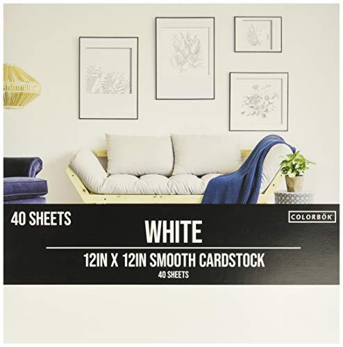 Colorbok White 12x12in Smooth Cardstock