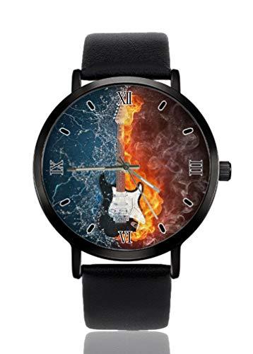 Reloj de pulsera para mujer con guitarra eléctrica, diseño ultrafino, extremadamente simple,...