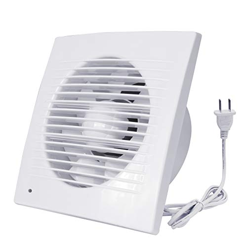 Exhaust Fan , 12W Ventilation Extractor with Anti-backflow Check Valve Chain Switch, Window and Wall Mount Vent Fans for Kitchen Bathroom Greenhouse Garage (4 inch / 110V) Thin fan