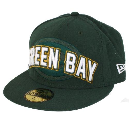 New Era NFL Packers de Green Bay Boudin 5950 Casquette, Homme, 10513230, Vert foncé, 7 1/4