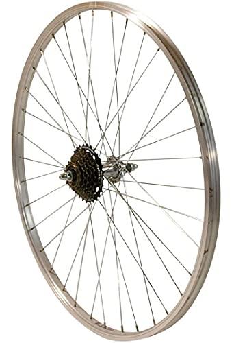 Redondo 26 Zoll Hinterrad Laufrad 26' Kasten Felge + 7-Fach Shimano Kranz Silber