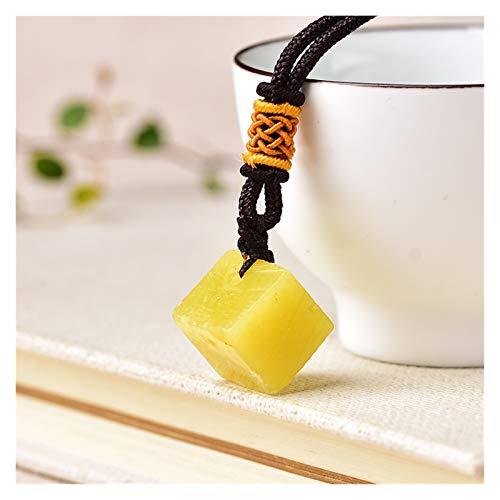 JINGGEGE 1 stück Mode Einfache Anhänger Natürliche Zitrone Jade Quarz Stein Rohe Kristalle Für Männer Frauen Schmuck Gelb Reiki Mineralien Exemplar Geschenk