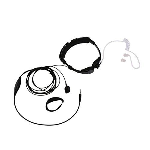 3.5mm Adjustable Throat Mic Neckband Headset/Headphones for Cellphone/Gaming