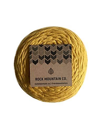3mm Gold Macrame Cord/Extra Soft Cotton Mustard Yellow Knotting Rope