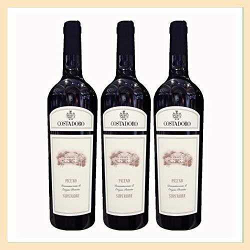 3x vino Rosso Piceno Superiore DOP, cantina Costadoro, San Benedetto del Tronto, Ascoli Piceno, Italy, prodotto tipico marchigiano
