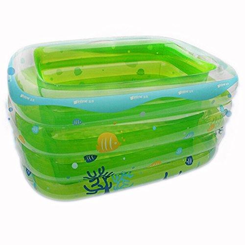 lyy Baignoire épaissie isolation quatre anneau rectangulaire bébé piscine gonflable maison piscine de baignade (Couleur : B)