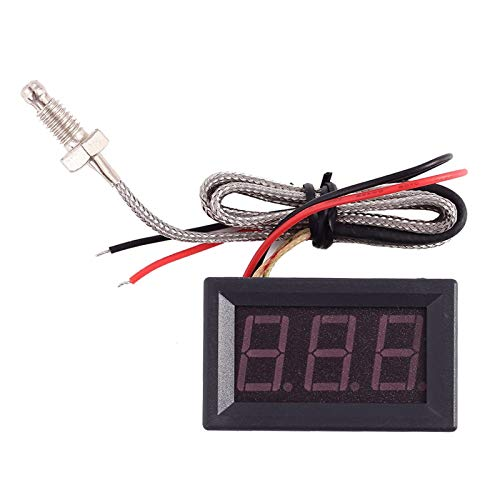 AILOVA Termometro Meter, DC 4.0V-28V Termometro Digitale Industriale Tipo K M6 Termocoppia Tester Digitale Display LED
