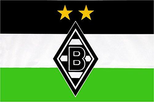 Flaggenfritze Hissflagge Borussia Mönchengladbach Logo - 150 x 250 cm + gratis Aufkleber