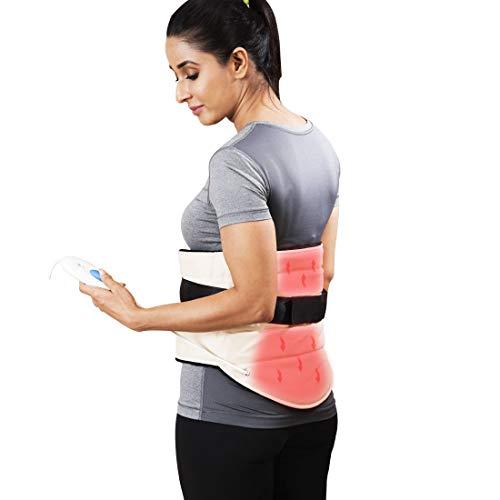 JSB H10 Electric Heating Pad for Lumbar Back Pain Relief Orthopedic Heat Belt