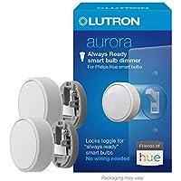 2-Pack Lutron Aurora Smart Bulb Dimmer Switch for Philips Hue Smart Bulbs (White)