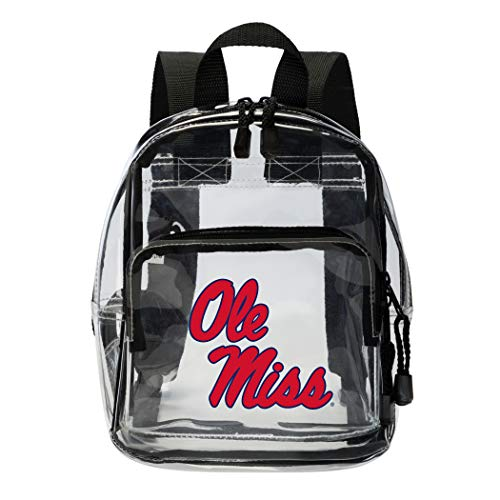 "THE NORTHWEST COMPANY Mississippi Rebels Clear Mini-Backpack, 9"" x 7.5"" x 3.25"""