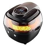 lyyjiaju cucina friggitrice ad aria calda 6.5l completamente automatico aria friggitrice air air fryer 360 riscaldamento a ciclo 1350w automatico aria friggitrice temperatura e timer regolabile
