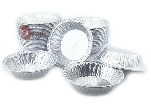 """Aluminum Foil Mini Pie Pans 2-15/16"""" Very Small Pans for Pie/Tart Pans 20 Pcs."""