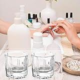 4 Pcs Nail Dappen Dish Nail Crystal Bowl Dapping Dish Glass Crystal Cup for Acrylic Liquid Powder
