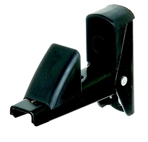 GAH-Alberts 307752 Fensterladen- und Tür-Feststeller, Aluminium, schwarz lackiert, Abstand: 15 - 50 mm