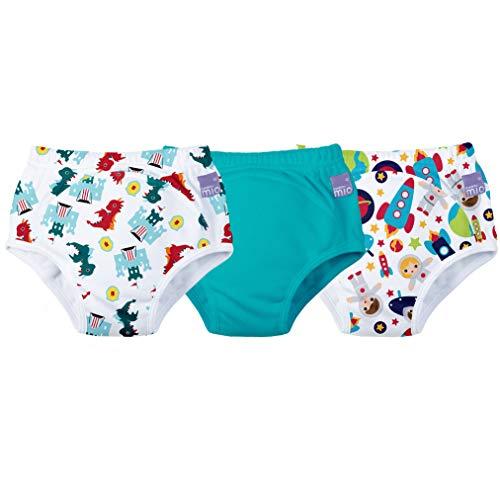 Bambino Mio - culottes d'apprentissage de la propreté - mix garçon bleu sarcelle - 3+ ans - lot de 3