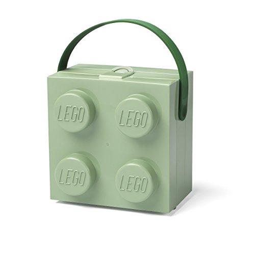 Room Copenhagen 5711938030490 Lego Brotdose mit Tragegriff Tragbare Aufbewahrungsbox, Sand Grün
