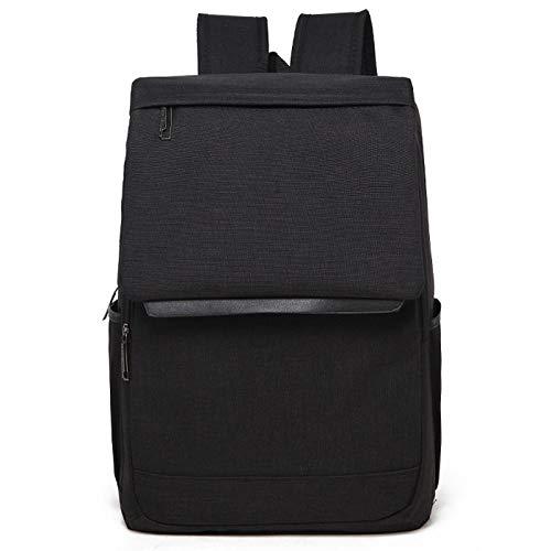 Luoshan múltiples funciones universal del ordenador portátil de lona bolsa de hombros sin prisa Mochila Bolsa estudiantes, Tamaño: 42x30x12cm, for 15.6 pulgadas y por debajo de Macbook, Samsung, Lenov