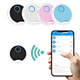 Key Finder,4 Pack Bluetooth Tracker, New Upgrade Item Locator GPS Tracking Device APP Control Compatible iOS Android for Keys, Pets, Phone, Wallet, Handbag Children and More