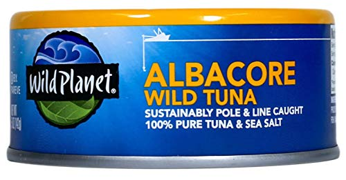 Wild Planet Albacore Wild Tuna, 3rd Party Mercury Tested, 5 Ounce (Pack of 6)