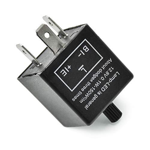 WEKON AUTO 3 PIN Blinker Relais für LED Blinker Elektronische Einstellbare Blinkerrelais, 12V DC Lastunabhängiges LED Blinker Relais CF14-JL02