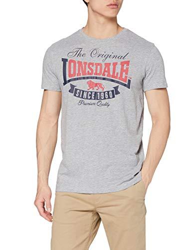 Lonsdale London Herren T Shirt Trägerhemd Corrie, Grau, L