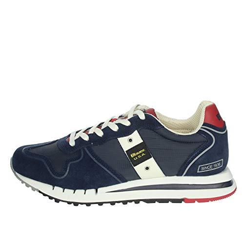 Scarpe Blauer Sneaker Running Quartz in Suede/Tessuto BLU Navy uomo US21BU09 42