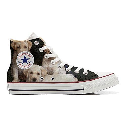 Zapatillas Personalizadas Originales Hi Canvas, Zapatillas Unisex (Producto Artesanal) con Cachorros de...