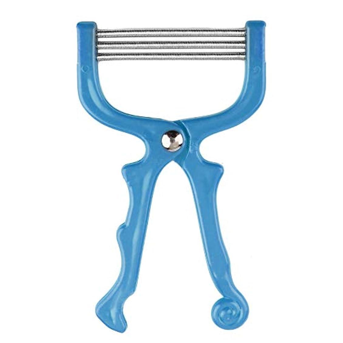 感謝祭発音一貫した安全なハンドヘルドスプリングローラー女性の顔顔の毛の除去脱毛器美容器脱毛器エピローラーフェイスケアマッサージ(Color:blue)
