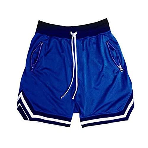 N\P Verano Casual Pantalones Cortos de Hombre Alta Calle Entrenamiento