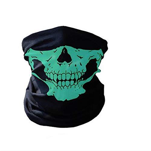 SHUAISHUAI Ciclismo Mascarilla Cara Headwear Halloween Skull Wrap Wrap Scarf Warde Warmeband Headband Transpirable Correr Bandana Equipo Deportivo al Aire Libre Hermosa (Color : Army Green)