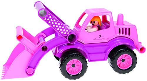 Lena Eco Active Princess Pink Front Loader Truck is a Eco Friendly BPA and Phthalates Free Environment Friendly Biodegradable Green Toy Manufactured from Food Grade Resin and Wood