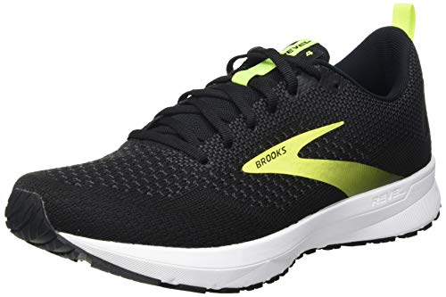 Brooks Revel 4, Scarpe da Corsa Uomo, Black/White/Nightlife, 43 EU