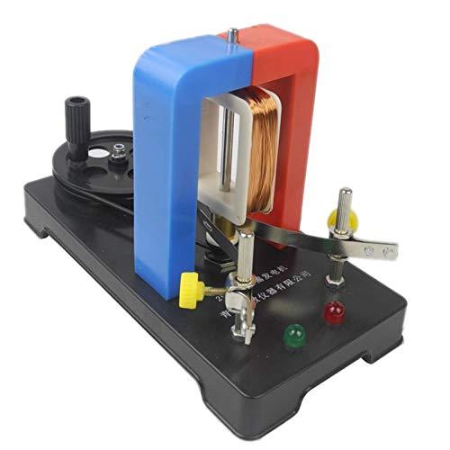 Haudang Modelo de Generador de Electricidad de Mano DIY Generador EléCtrico AC- Experimento de FíSica Juguetes Educativos