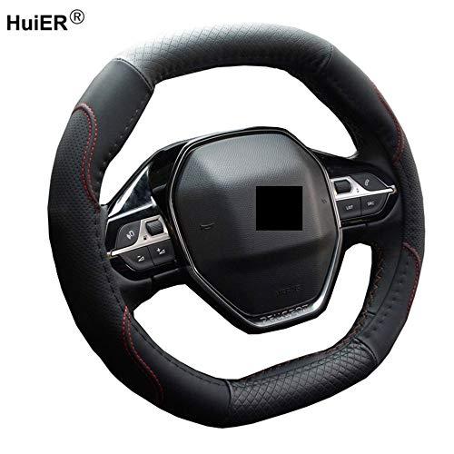 WQSNUB Volant Car Steering Wheel Cover Fashion Funda Volante, para Peugeot 3008 II 2016 2017 2018 2019