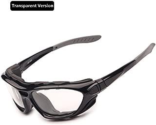 Gafas de la Motocicleta Polarized Clear Lenses Day Night, Gafas de Sol para el Casco Temples Intercambiables Correa