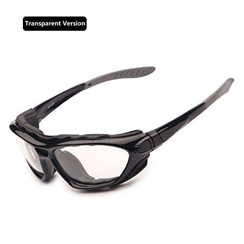 EnzoDate Motorrad - Brille polarisierte brillengläser klar Tag - Nacht - Helm Sonnenbrille auswechselbare TEM (klare Version)
