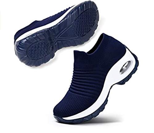 ZYLL Confortables Chaussures de randonnée Non-Slip Femmes Courir Sports Chaussures Air Absorbant en Maille légère Choc Respirant Chaussures de Marche Gym,A,38