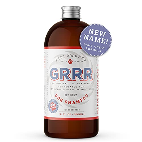 Heel 's New Name - GRRR. Same great product From the Makers of Moosh – Natural Dog Shampoo with Lavender Essential Oils for Itchy Skin ,Hot Spots, and Pet Odor, Grooming Shampoo, Concentrated12 ounces