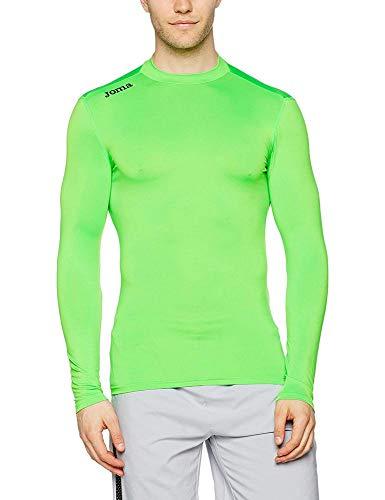 Joma Academy Camiseta térmica, Hombre, Verde Fluor, 4XS