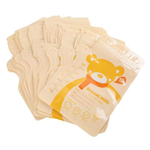 Accesorios de la bomba de pecho, leche materna sellada bolsa 30PCS para uso diario para la lactancia materna mamá para la leche materna (amarillo)